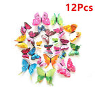 12pcs 3d Vivid Butterfly Wall Stickers Art Decals Home All Room Decorations Kids