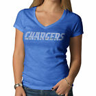 Women's NFL San Diego Chargers Retro Logo V Neck Scrum Tee by '47 Brand $39.99 USD on eBay