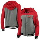 New Era Arizona Diamondbacks Women's Gray/Red French Terry Full-Zip Hoodie on Ebay