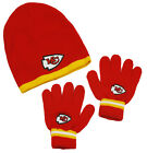 NFL Football Kids Knit Winter Hat and Gloves Set - Many Teams