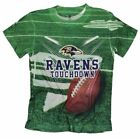 Baltimore Ravens TOUCHDOWN NFL Youth T-Shirt Shirt, Green $8.99 USD on eBay