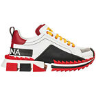 DOLCE&GABBANA MEN'S SHOES LEATHER TRAINERS SNEAKERS NEW SUPER KING WHITE 2D8