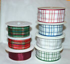 1METRE WIRE EDGE TARTAN GLITTER PATTERN RIBBON # 40MM WIDE #CRAFTS