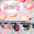 Led String Lights Heart Shaped Led Fairy Light Girls Bedroom Home Romantic Decor