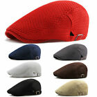 New Men Mesh Flat Hat Cap Breathable Golf Driving outdoor Cabbie Newsboy