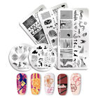 NICOLE DIARY Nail Stamping Plates Geometry Flower Line Nail Art Templates Tips