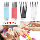 5x Clay Sculpting Set Wax Carving Tools Shapers Modeling Nail Art Dotting Pen image