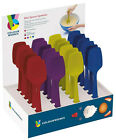 Kitchen Craft Colourworks 20cm Small Flexible Silicone Spoons / Bowl Scrapers