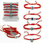 Fashion Lucky Eye Beaded Bracelet Rope String Braided Bangle Couple Jewelry