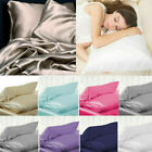 100% Pure Silk Pillowcase Solid Soft Pillowcase Covers Home Bedding Accessories image