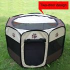 Dog Cat Pet Playpen Tent Portable Exercise Fence Kennel Cage Soft Crate House US, used for sale  Pomona