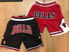 BRAND NEW Chicago Bulls Classic Vintage Throwback Basketball Shorts Red / Black