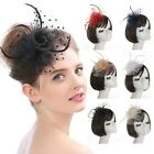 Classy Women Flower Mesh Ribbons Feathers Headband Cocktail Tea Party Headwear