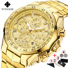 Relogio Masculino Wrist Watches Men 2019 Top Brand Luxury WWOOR Golden Chronogra image