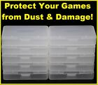 1-100 GBA Clear Cartridge Cases Nintendo Game Boy Advance Games Case Dust Covers