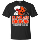 NFL – CLEVELAND BROWNS WIN OR LOSE FOOTBALL SNOOPY² T-SHIRT Men's Black S-5XL image