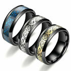 Fashion Carbide Celtic Dragon Tungsten Carbide Men's Wedding Band Rings 7-11MM # image