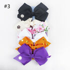 JOJO SIWA 6 Pcs/Set Rainbow Printed Knot Ribbon Bow Hair Chip For Kids Girls S8