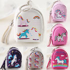 Zipper Wallet Keyring Coin Purse Wallet Unicorn Girl Kids Pouch Money Bag Holder