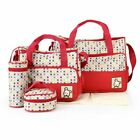 5Pcs Comfortable Multifunction Zipper Printed Polyester Baby Diaper Storage Bags