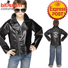 CK1090 Boys Child Rock N Roll Faux Leather Jacket 50s Costume 1950s Grease Retro