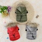 1x Winter Dog Coats Pet Cat Puppy Jacket Hoodie Clothes Warm for Small Dog Puppy