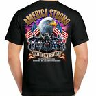 Biker Life USA America Strong Flag Eagle Patriotic Motorcycle T Shirt M706-SS