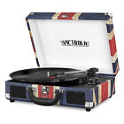 NEW Bluetooth Portable Suitcase Record Player w/ 3-speed Turntable and Speakers