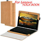"Case For 10.1"" Lenovo YOGA BOOK Protective PU Leather Flip cover Tempered glass"