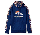 Zubaz Men's NFL Denver Broncos Pullover Hoodie With Zebra Accents