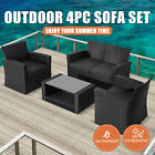 4pc Outdoor Furniture Patio Wicker Set Garden Table Chair Bistro