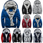 Kyпить Men Faux Fur Lined Winter Warm Hoodie Jacket Thick Padded Hooded Sweater Coat на еВаy.соm