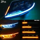 2pc Sequential LED Strip Turn Signal Switchback Indicator Daytime Running Lights for sale  United Kingdom