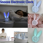 Mini Moe Rabbit Timing LED Night Light Cute Rabbit Smart Digital Household Clock