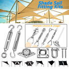 Stainless Steel Sun Sail Shade Fixing Fittings Kits Garden Awning Canopy Tool