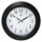 Infinity Instruments Classic Black 24 in. Wall Clock