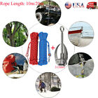 Foldable Rock Climbing 3 Claw Grappling Hook&Buckle keychain With 10m/20m Rope
