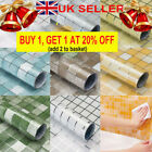 Kitchen Self Adhesive Oil-proof Wallpaper Waterproof Mosaic Tile Stickers Decor