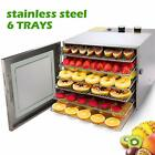 Stainless Steel 6Tray Food Dehydrator Plus Beef Fruit Dryer Machine 360º Airflow