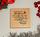A baby's hands in Bethlehem Rubber Stamp - Religious Christmas Sentiment 26