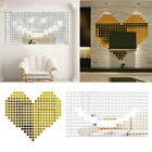 Square Mosaic Mirror Wall Stickers Removable Wall Decals Home Decoration