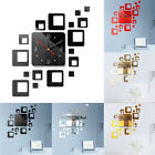 DIY Large Acrylic Modern Wall Clock 3D Mirror Surface Sticker Home Office Decor#