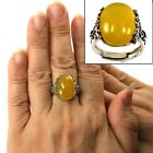 Kyпить Yellow Agate Solitaire Ring Hand-Crafted of Sterling Silver .925 TPJ на еВаy.соm