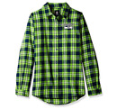 Forever Collectibles NFL Women's Seattle Seahawks Check Flannel Shirt $34.99 USD on eBay