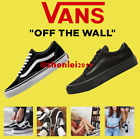 VAN Old Skool Skate Shoes Black/White All Size Classic Canvas Sneakers G5UK