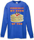 Pancake My Eyes of You Kinder Langarm T-Shirt Nerd  Fun Pancakes Pfannkuchen