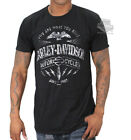 Harley-Davidson Mens Ride Spark Eagle Hidden Pocket Black Short Sleeve T-Shirt image