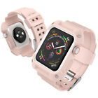 For Apple Watch Silicone Sport Band Strap with Case iwatch Series 3/2 42mm 38mm