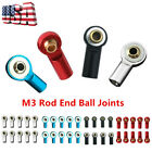 5/20pcs Aluminum Alloy M3 Link Rod End Ball Joints For 1/10 Rc Crawler Car Parts