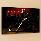 Modern wall Art Living Room Decor HD Print Fabian Perez Tango In Red on Canvas